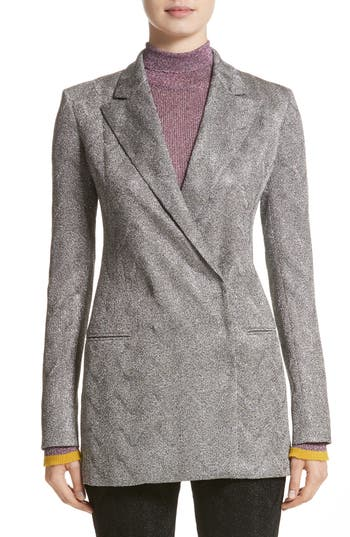 Women's Missoni Metallic Knit Double Breasted Jacket