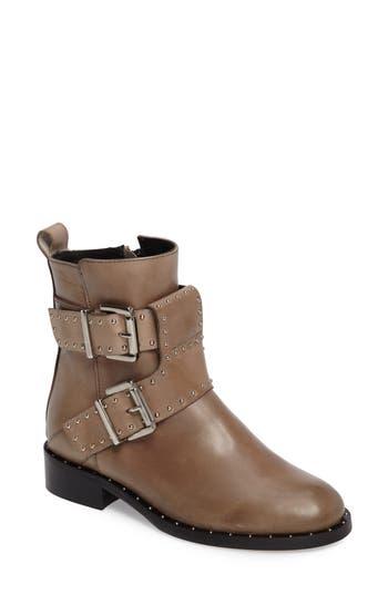 Women's Charles David Studded Buckle Strap Boot, Size 36 EU - Beige