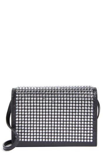 Women's Saint Laurent Toy Kate Crystal Embellished Leather Crossbody Bag - Black
