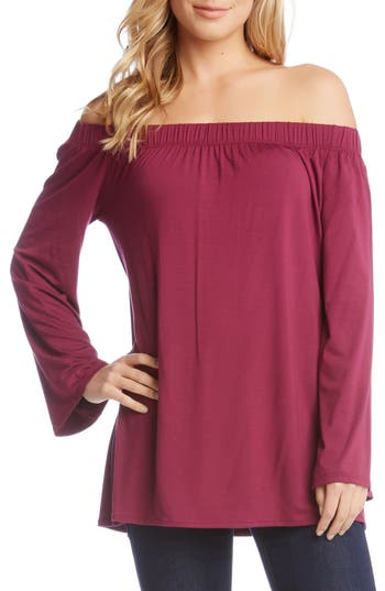 Women's Karen Kane Off The Shoulder Top, Size X-Small - Red