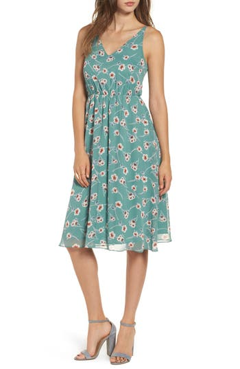 Women's Soprano Floral Blouson Midi Dress