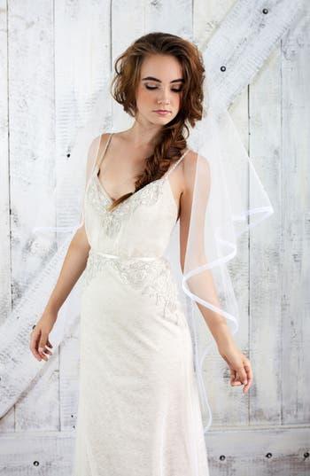 Vintage Inspired Wedding Accessories Veil Trends Emerson Bridal Veil $225.00 AT vintagedancer.com