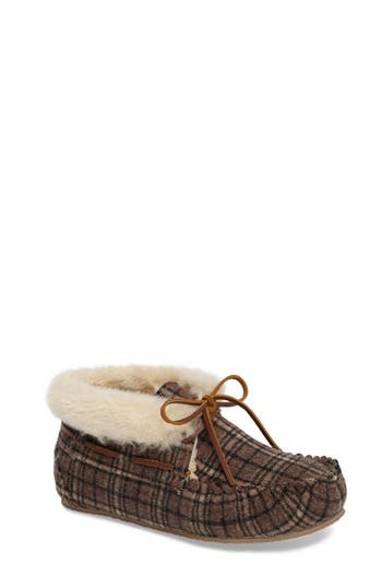 Women's Minnetonka Chrissy Faux Fur Lined Slipper