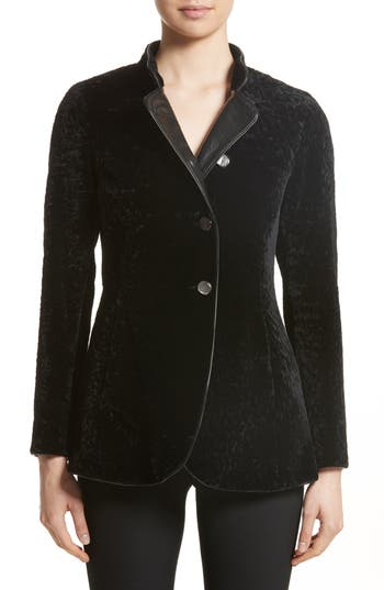 Armani Collezioni Genuine Shearling Jacket, US / 46 IT - Black