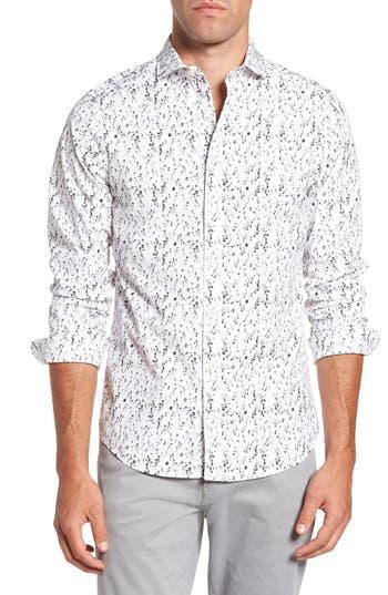 Men's Gant Slim Fit Crushed Ice Print Sport Shirt
