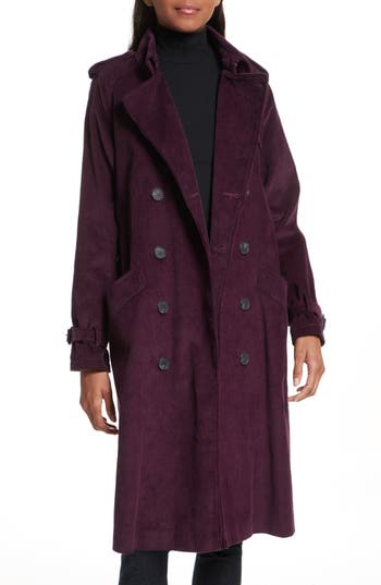 Women's Rebecca Minkoff Ferry Double Breasted Corduroy Trench Coat