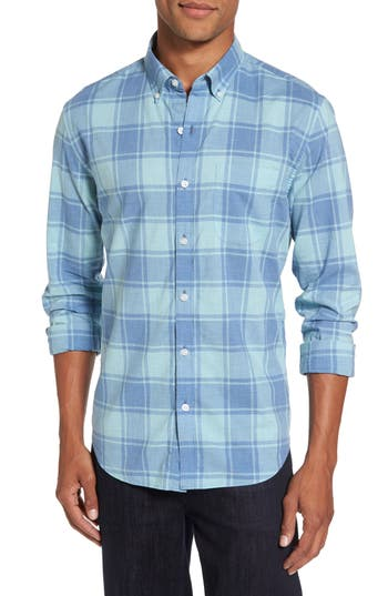 Men's Bonobos Summerweight Slim Cut Large Check Sport Shirt