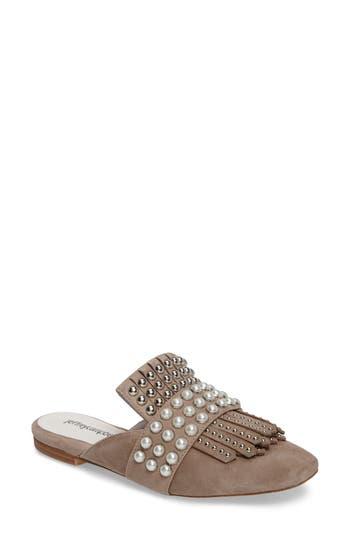 Women's Jeffrey Campbell Ravis Embellished Loafer Mule, Size 5.5 M - Brown