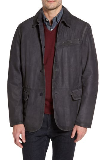 Men's Missani Le Collezioni Burnished Leather Jacket