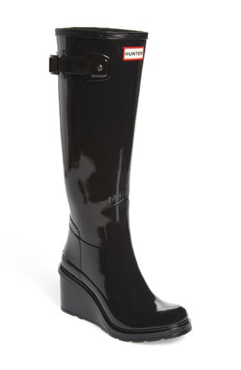 Hunter Original Refined Wedge Rain Boot, Black