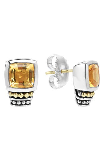 Women's Lagos 'Caviar Color' Semiprecious Stone Stud Earrings