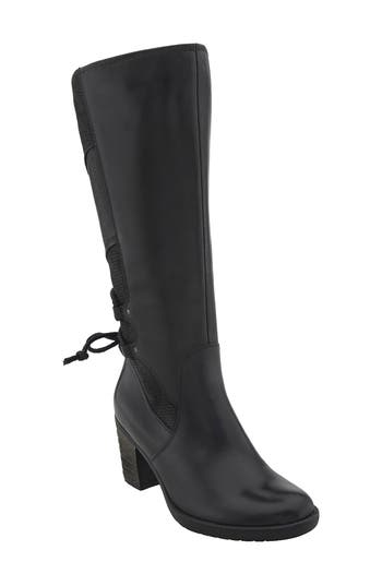 Earth Miles Tall Boot- Black