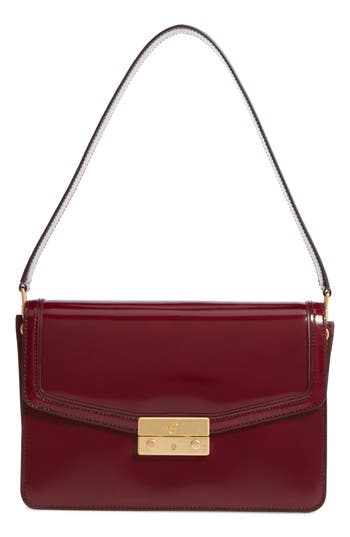 Tory Burch Juliette Leather Shoulder Bag - Burgundy