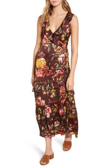 Women's Love Like Summer X Billabong Ruffle Wrap Dress, Size Small - Red
