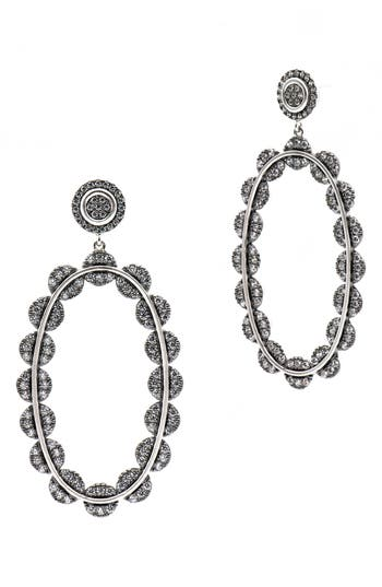 Women's Freida Rothman Cubic Zirconia Oval Drop Earrings
