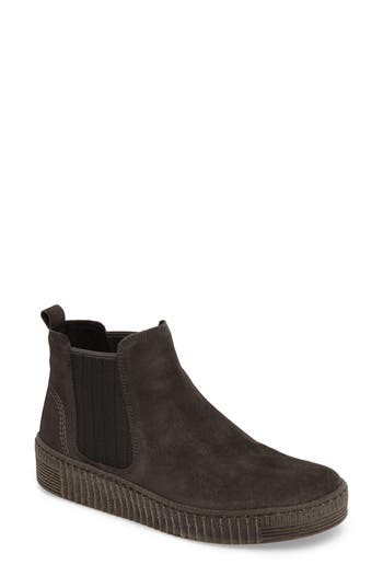 Gabor Flat Ankle Boot, Black