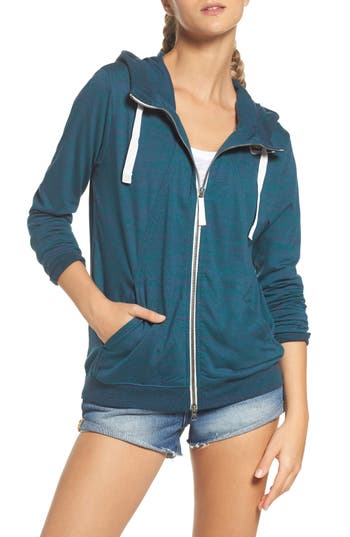 Women's Nike Gym Zip Hoodie, Size X-Small - Green