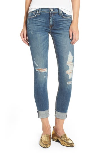 Women's Hudson Jeans Tally Ripped Skinny Jeans, Size 31 - Blue