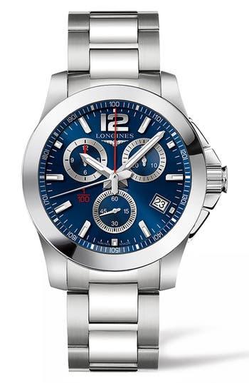 Longines Conquest Chronograph Bracelet Watch, 41Mm