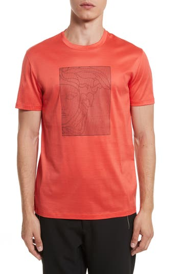 Versace Collection Barcode Medusa Graphic T-Shirt, Red