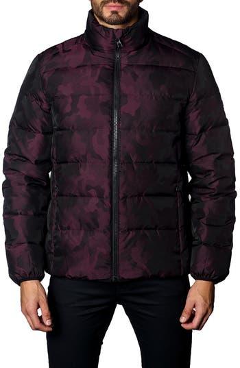 Jared Lang Down Puffer Jacket, Burgundy