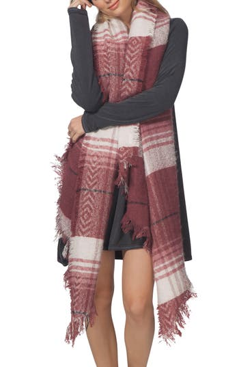 Women's Rip Curl London Blanket Scarf, Size One Size - Red
