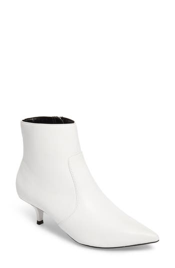 Topshop Abba Pointy Toe Bootie - White
