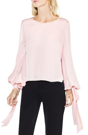 Women's Vince Camuto Tie Cuff Bubble Sleeve Blouse, Size XX-Small - Pink