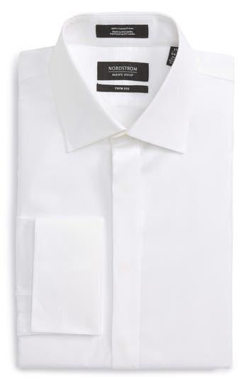 Victorian Men's Tuxedo, Tailcoats, Formalwear Guide Mens Nordstrom Mens Shop Regular Fit Tuxedo Shirt $89.50 AT vintagedancer.com