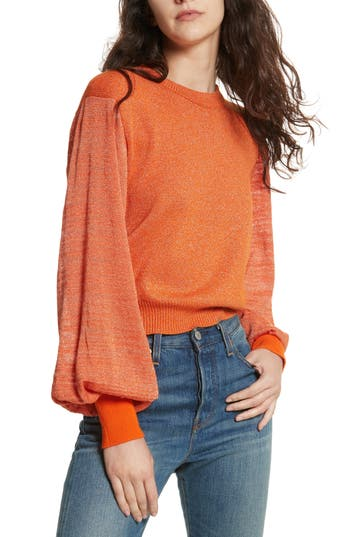 Women's Free People Let It Shine Sweater, Size X-Small - Orange