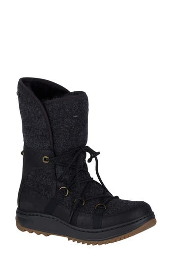 Sperry Powder Ice Cap Thinsulate Insulated Water Resistant Boot, Black