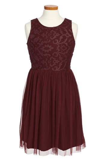 Girl's Ruby & Bloom Sleeveless Lace Dress