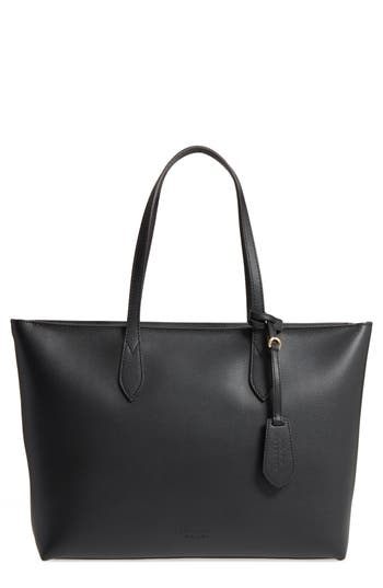 Burberry Calfskin Leather Tote -