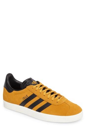 Men's Adidas Gazelle Sneaker, Size 7.5 M - Yellow