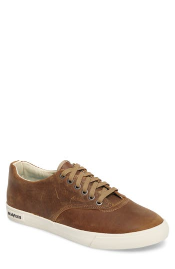 1960s Style Men's Clothing, 70s Men's Fashion Mens Seavees Hermosa Plimsoll Wintertide Sneaker Size 10.5 M - Brown $118.00 AT vintagedancer.com