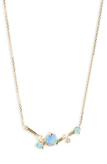 Women's Wwake Organic Triangle Opal & Diamond Necklace