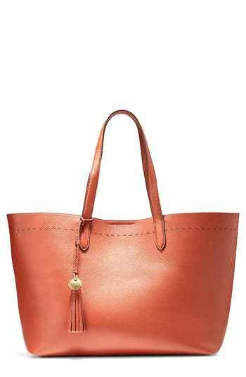 Cole Haan  PAYSON LEATHER TOTE - BROWN