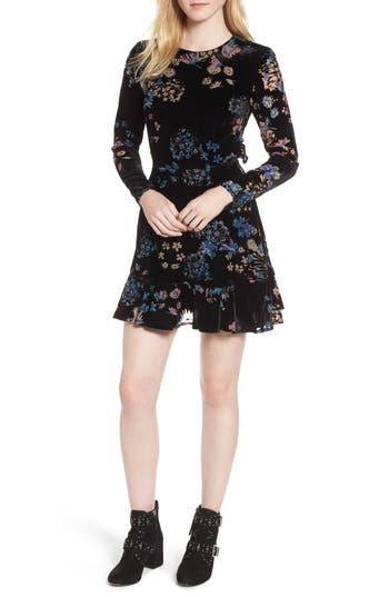 Women's Rebecca Minkoff Steffy Cutout Velvet Fit & Flare Dress