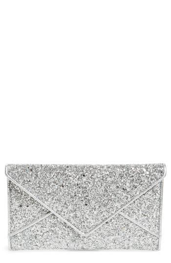 Tory Burch Glitter Envelope Clutch - Metallic