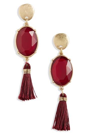 Women's Canvas Crystal Tassel Earrings