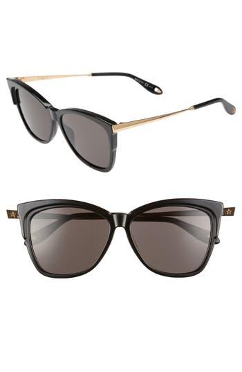 Givenchy 57Mm Cat Eye Sunglasses - Black