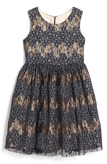 Girl's Frais Floral Lace Dress