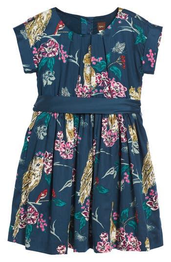 Girl's Tea Collection Caledonian Forest Sash Dress