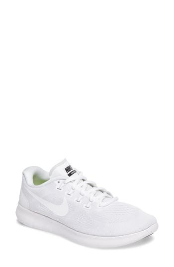 Women's Nike Free Rn 2 Running Shoe, Size 9 M - White