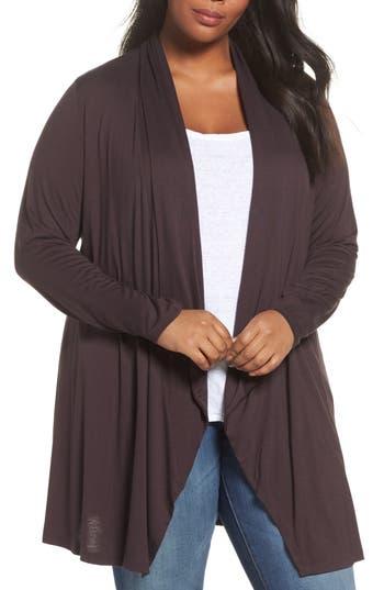 Plus Size Women's Dantelle Waterfall Drape Front Cardigan