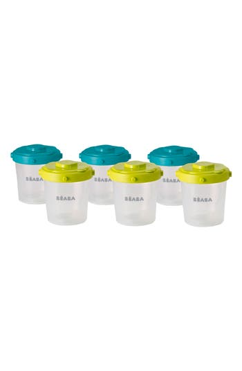 Infant Beaba 6-Pack Clip Portion Containers, Size One Size - Blue