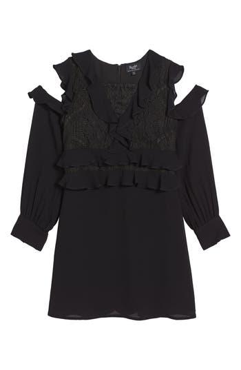 Girl's Bardot Junior Ruffle Cold Shoulder Dress