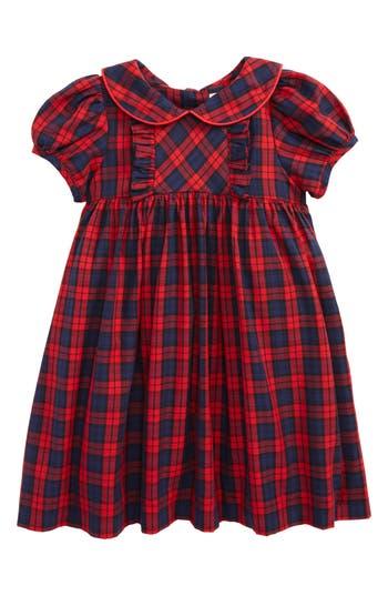 Infant Girl's Luli & Me Plaid Dress, Size 3M - Red