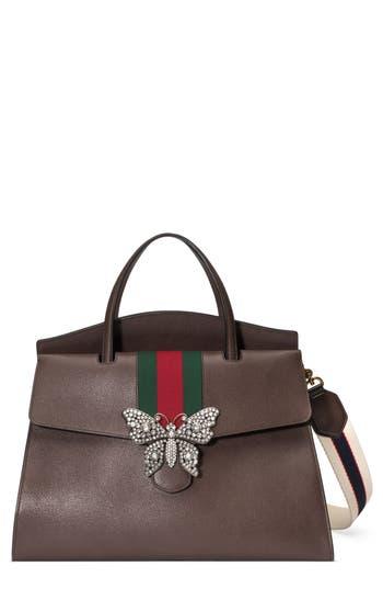Gucci Large Linea Totem Leather Satchel -