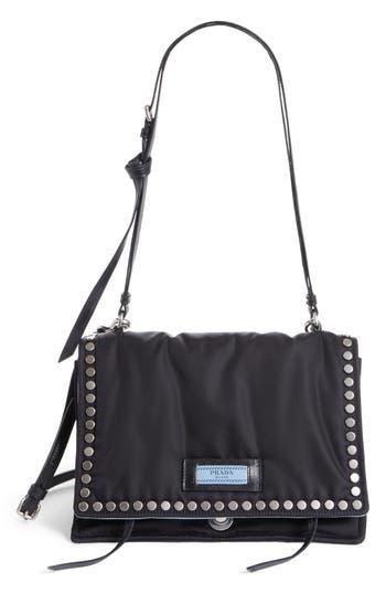 Prada Medium Etiquette Tessuto Bag - Black